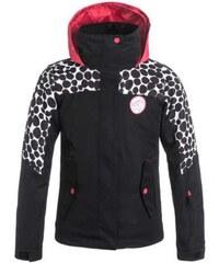Dětská zimní bunda Roxy JET girl colorblock irregular dots_true black XXL