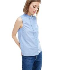 HUSH HUSH Modrá košile s karnýrovým detailem