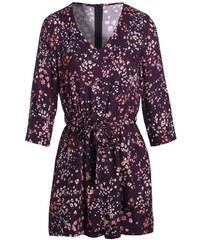Combi short cache-coeur fleurs Violet Viscose - Femme Taille 34 - Cache Cache