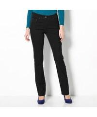 Blancheporte Strečové kalhoty v rovném střihu černá