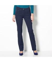 Blancheporte Strečové kalhoty v rovném střihu námořnická modrá