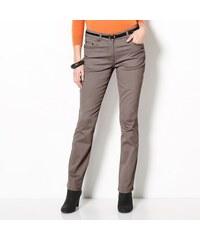 Blancheporte Strečové kalhoty v rovném střihu šedá