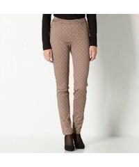 Blancheporte Legínové kalhoty s potiskem hnědošedá