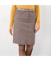 Blancheporte Strečová sukně v rovném střihu šedá