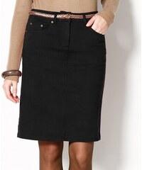 Blancheporte Strečová sukně v rovném střihu černá