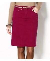 Blancheporte Strečová sukně v rovném střihu bordó