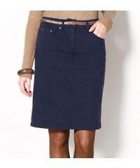 Blancheporte Strečová sukně v rovném střihu námořnická modrá