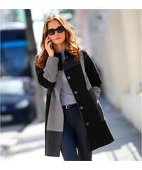 Blancheporte Kabát s patchworkovým efektem šedá