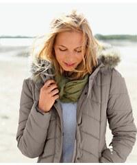 Blancheporte Prošívaná bunda s kapucí hnědošedá