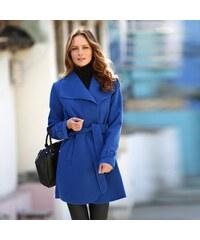 Blancheporte Kabát s páskem modrá tmavá