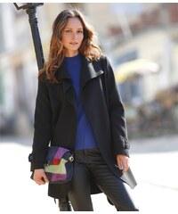 Blancheporte Kabát s páskem černá