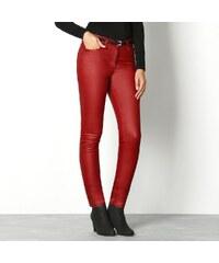 Blancheporte Kalhoty v koženém vzhledu červená