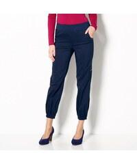 Blancheporte 7/8 kalhoty v členitém střihu námořnická modrá