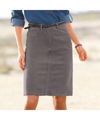 Blancheporte Manšestrová rovná sukně šedá
