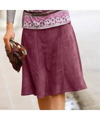 Blancheporte Rozšířená semišová sukně růžové dřevo