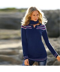 Blancheporte Žakárový pulovr nám.modrá