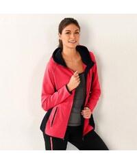 Blancheporte Dvoubarevná bunda na zip korálová/černá