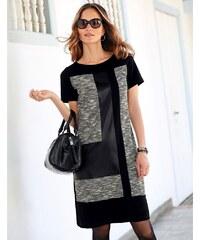 Blancheporte Šaty s patchwork efektem černá/šedá