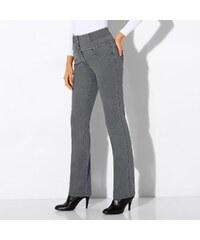 Blancheporte Rovné džíny s vysokým pasem šedá