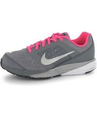 Nike Tri Fusion Girls Running Shoes Grey/Silv/Pink
