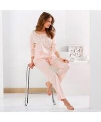 Blancheporte Pyžamová souprava tričko a kalhoty růžová