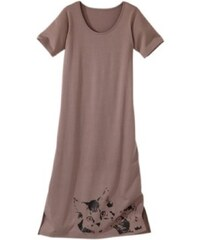 Blancheporte Dlouhá noční košile (2 ks) hnědošedá+lila