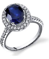 Eppi Stříbrný safírový prsten se zirkony Maxas