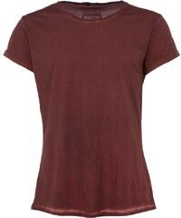 Tigha MILO SLUB T-Shirt mit verlängertem Saum in Vintage Rot
