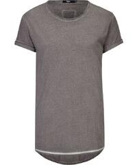 Tigha MILO SLUB T-Shirt mit verlängertem Saum in Vintage Grau