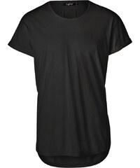 Tigha MILO SLUB T-Shirt mit verlängertem Saum in Schwarz