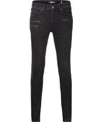Tigha JONA ZIP Slim Fit Jeans in Schwarz