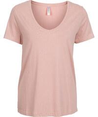 RAINBOW T-shirt encolure en V rose manches courtes femme - bonprix