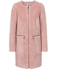 RAINBOW Manteau en fausse fourrure rose manches longues femme - bonprix