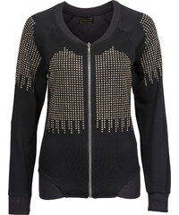RAINBOW Gilet sweat-shirt noir manches longues femme - bonprix