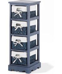 bpc living Étagère 4 tiroirs Vito, avec 4 tiroirs bleu maison - bonprix
