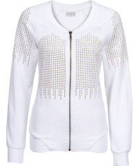 RAINBOW Gilet sweat-shirt blanc manches longues femme - bonprix