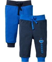 bpc bonprix collection Lot de 2 pantalons sweat bébé coton bio bleu enfant - bonprix