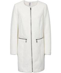 RAINBOW Manteau en fausse fourrure blanc manches longues femme - bonprix
