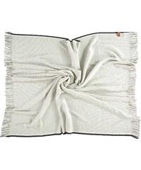 FRAAS Wolldecke mit Streifenmuster in schwarz-weiß