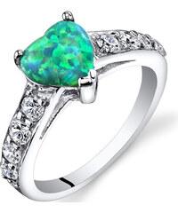 Eppi Stříbrný prsten s opálem a zirkony Tena