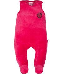 G-mini Dívčí velurové dupačky Beruška - růžové