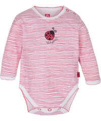 G-mini Dívčí body Beruška proužkované - růžovo-bílé