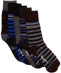 Pepe Jeans London Reid - Lot de 5 paires de chaussettes en coton mélangé - gris