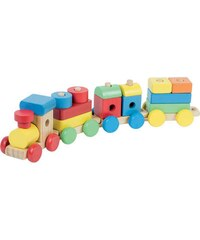 First Learning Train en bois - multicolore