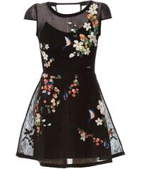 Guess Lyana - Kleid in Babydoll-Optik - schwarz