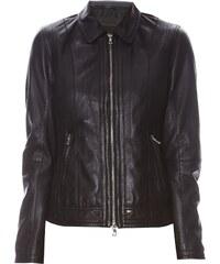 Oakwood Celebrity - Veste biker en cuir - noir