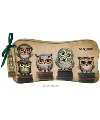 Santoro London - Neoprenový penál - Book Owls