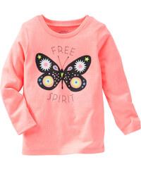 Oshkosh Dívčí tričko s motýlkem - oranžové