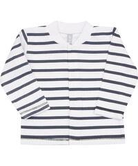 Nini Chlapecký kabátek pruhovaný - modro-bílý