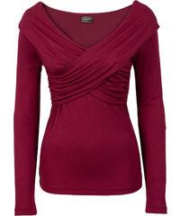 RAINBOW Shirt langarm in rot (V-Ausschnitt) für Damen von bonprix
